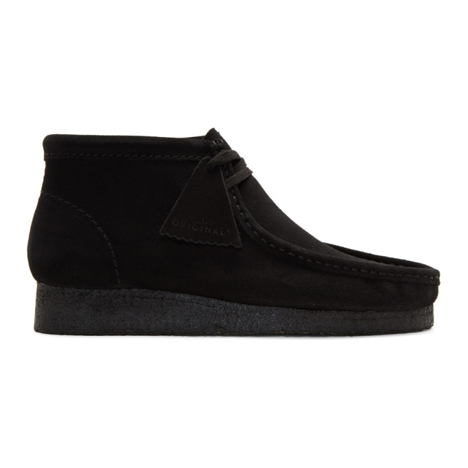 Clarks Originals Black Suede Wallabee Boots