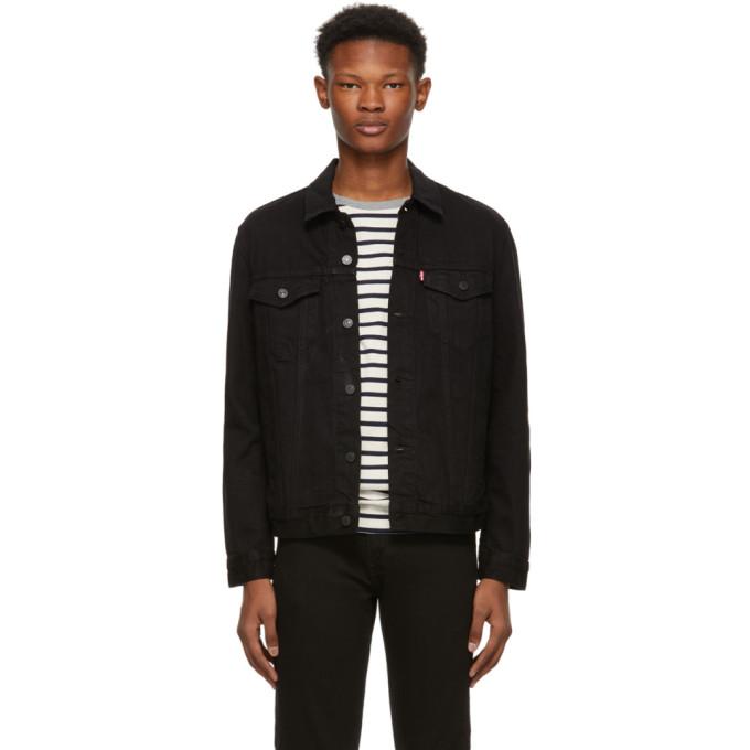 Levi's ブラック デニム トラッカー ジャケット