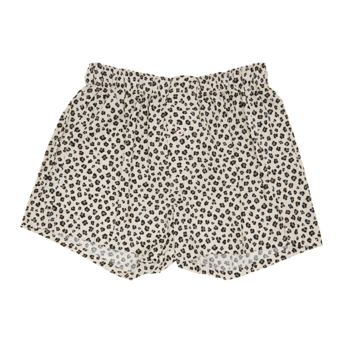 Image of Druthers Off-White Leopard Patterned Boxers