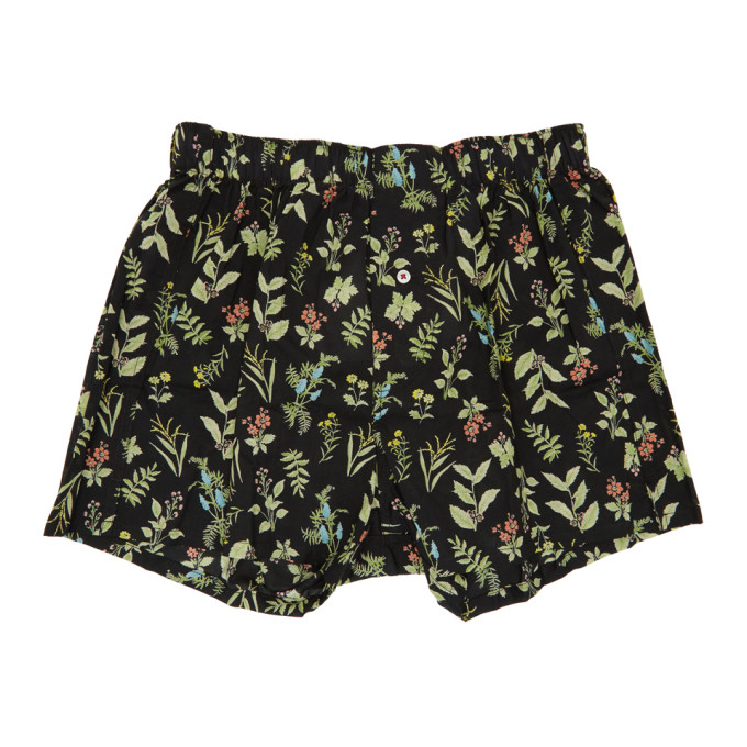 Image of Druthers Black Wild Flower Boxers