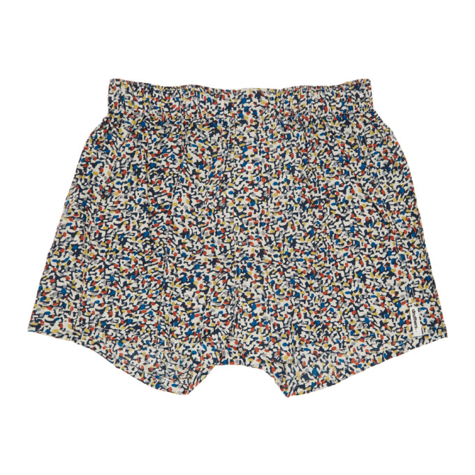 Image of Druthers Multicolor Mondrian Patterned Boxers
