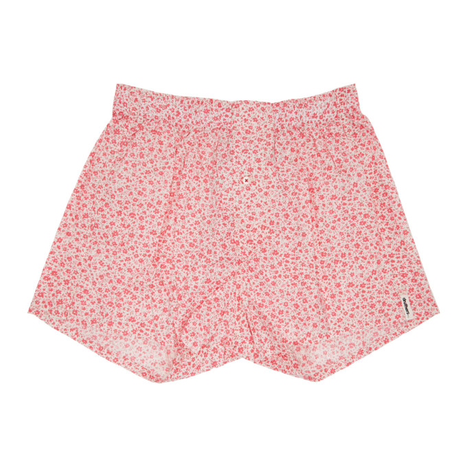 Image of Druthers Pink & White Micro Floral Boxers