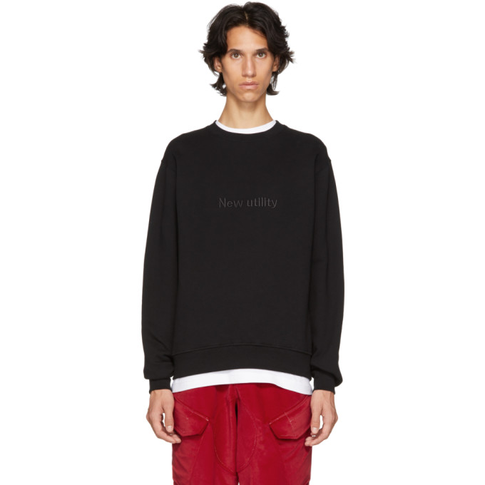 Image of Affix Black 'New Utility' Sweatshirt
