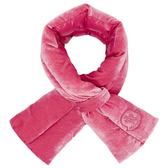 Moncler Foulard en velours rose