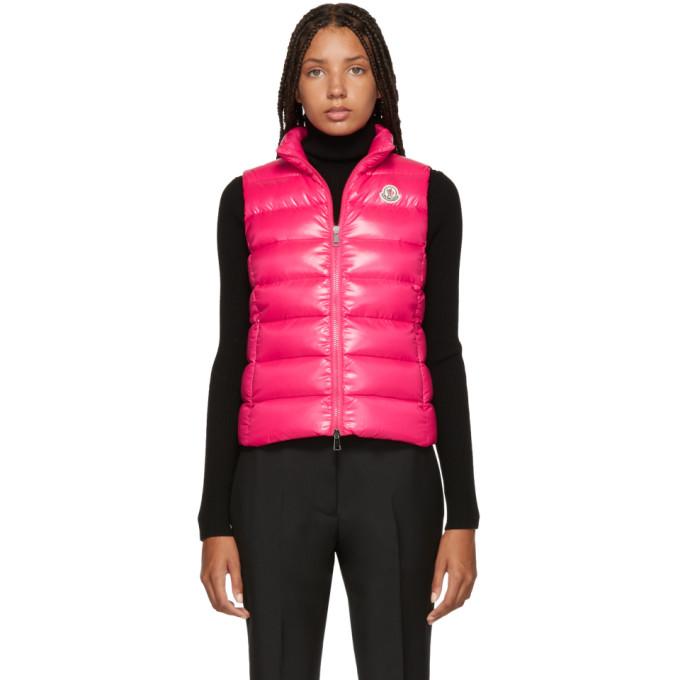 37b8cdd03 Moncler Pink Down Ghany Vest