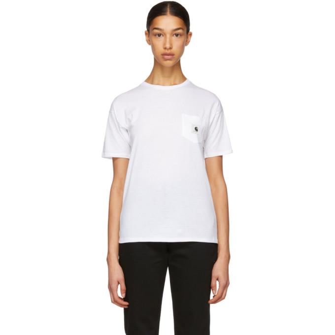 Carhartt Work In Progress White Carrie Pocket T Shirt