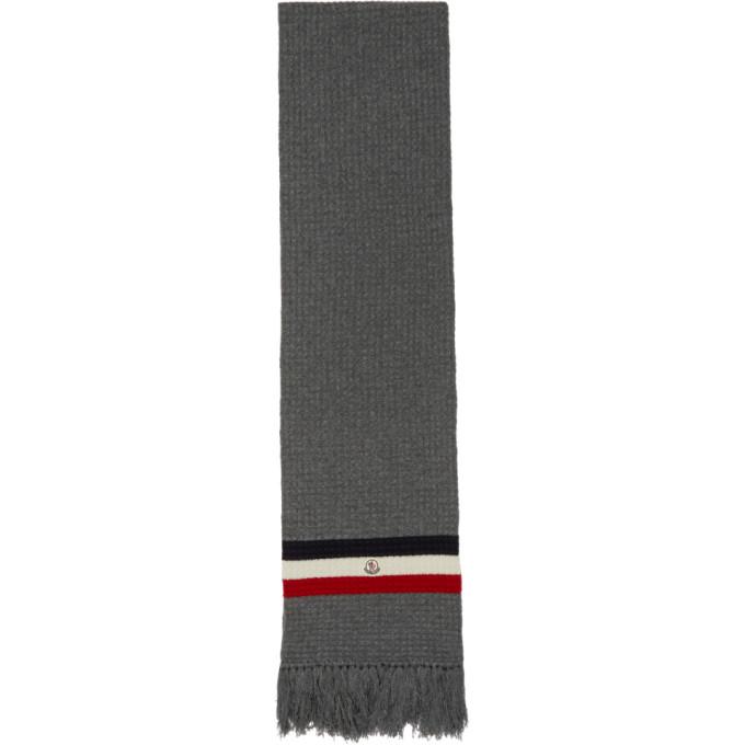 Moncler Foulard en maille de cachemire gris