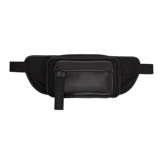 Moncler Black Leather Hip Bag