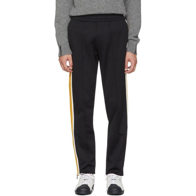 MONCLER Striped Jersey Track Pants - Black Size L