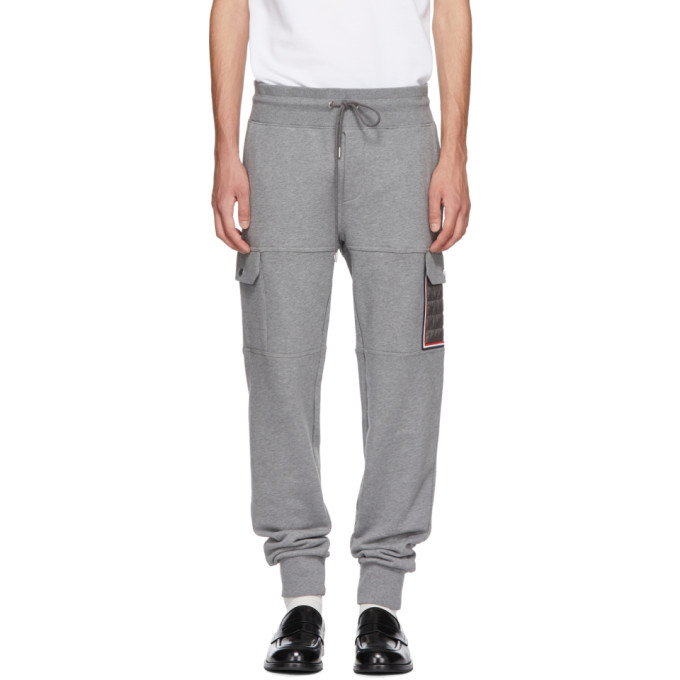 ede6075bf Moncler Grey Tapered Cargo Sweatpants