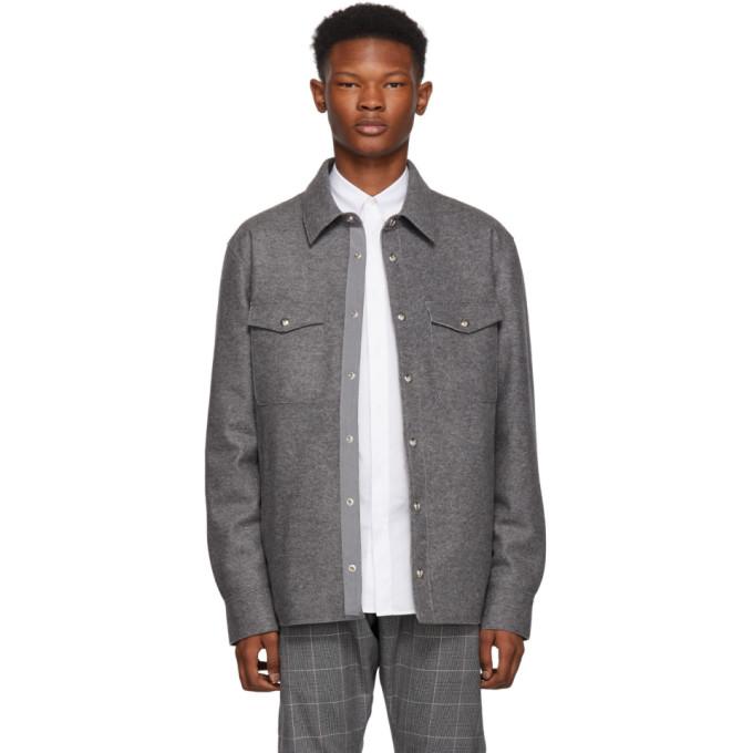 Moncler Grey Rigel Shirt Jacket