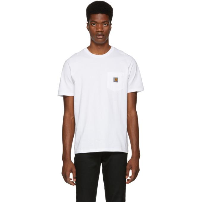 Carhartt Work In Progress White Pocket T Shirt