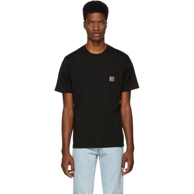 Carhartt Logo Pocket T-shirt In 8900 Black