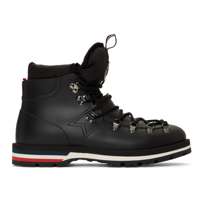 Moncler Black Henoc Hiking Boots