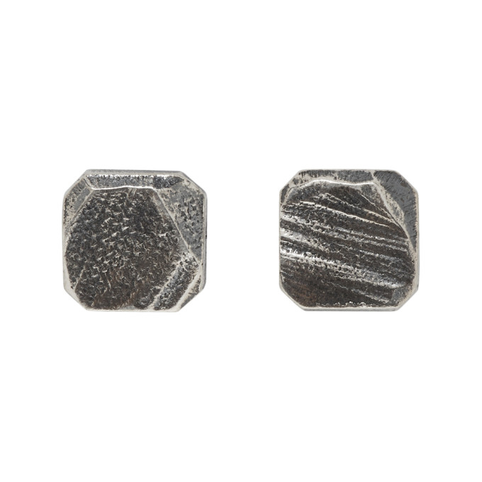 Image of Chin Teo Silver Square Earrings