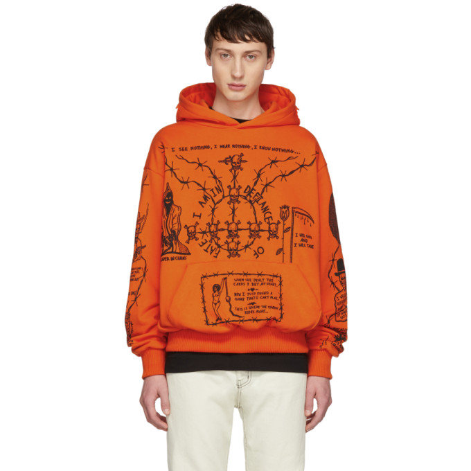 WARREN LOTAS Sabata Cotton Terry Oversized Hoodie - Orange Size M