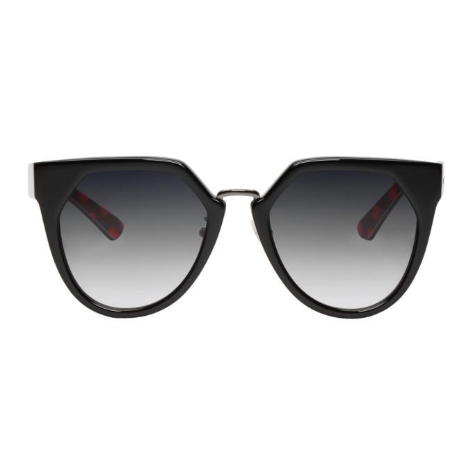 McQ Alexander McQueen Black Suspiria Cat-Eye Sunglasses