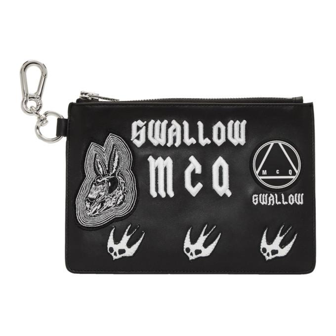 McQ Alexander McQueen Black Multi Patch Pouch