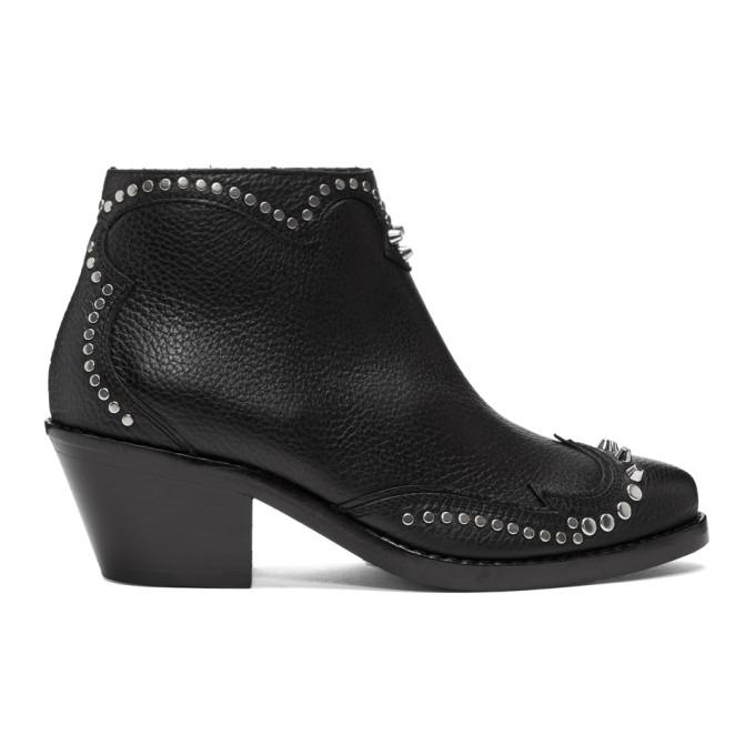 McQ Alexander McQueen Black New Solstice Zip Boots