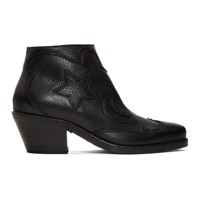 McQ Alexander McQueen Black Solstice Ankle Boots