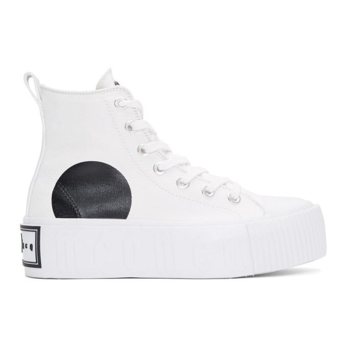 McQ Alexander McQueen White High-Top Platform Sneakers
