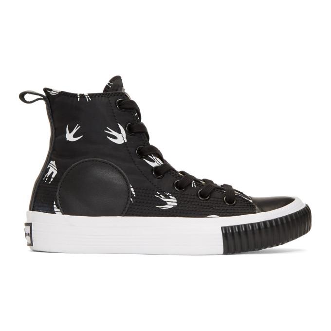 McQ Alexander McQueen Black Plimsoll High Sneakers
