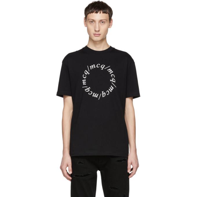 McQ Alexander McQueen T-shirt noir Dropped Shoulder