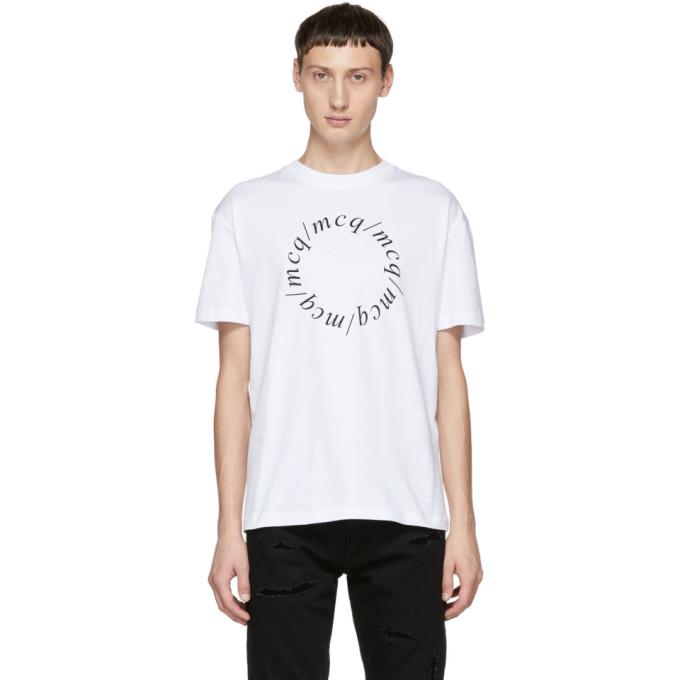McQ Alexander McQueen T-shirt blanc Dropped Shoulder