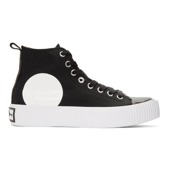 McQ Alexander McQueen Black Plimsoll Platform Sneakers