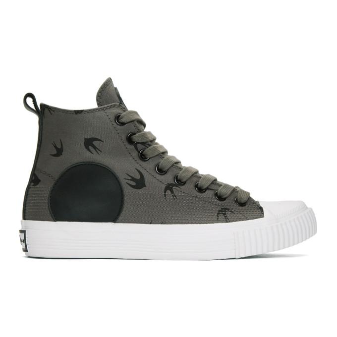 McQ Alexander McQueen Grey Plimsoll High Sneakers