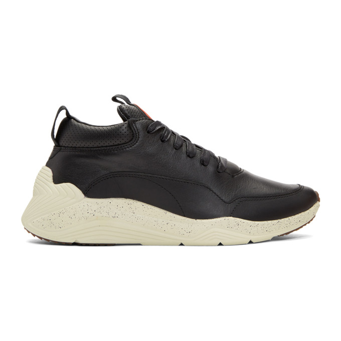 McQ Alexander McQueen Black Gishiki Hybrid Low Sneakers