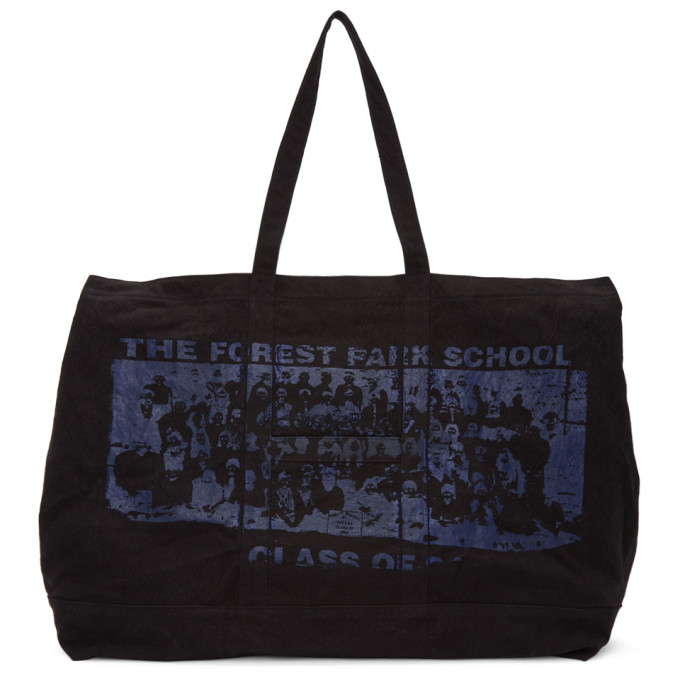 REESE COOPER Forest Park School Oversized Canvas Tote in Black