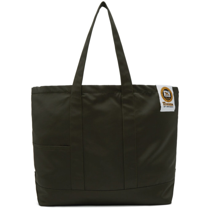 Image of Tiger of Sweden Green Drop S Tote