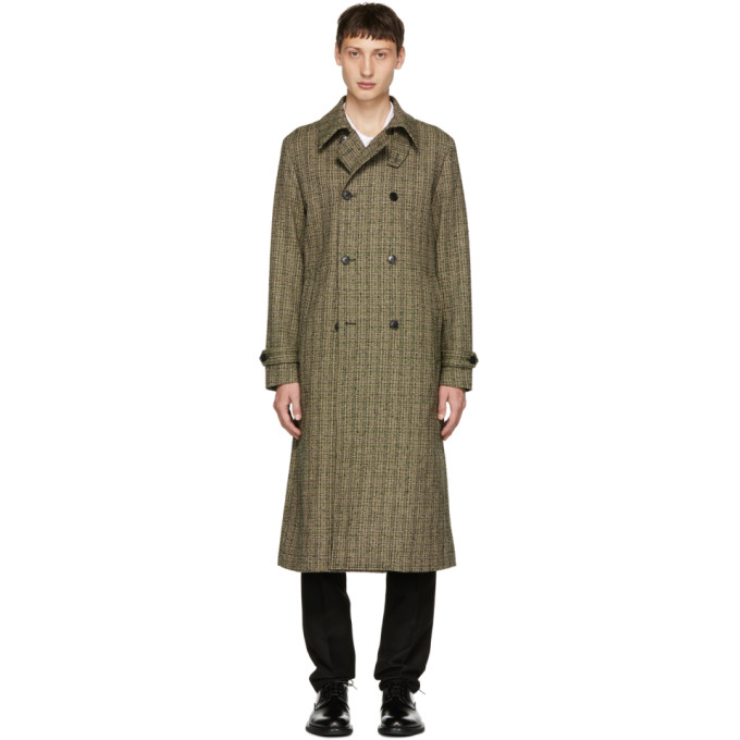 Image of Tiger of Sweden Green & Black Fitzroy 3 Coat