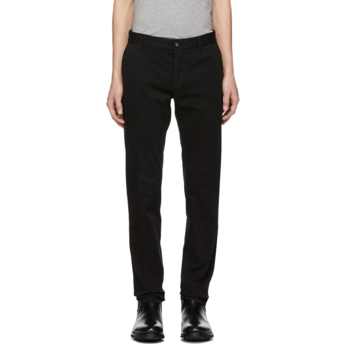 Image of Tiger of Sweden Black Todman Trousers