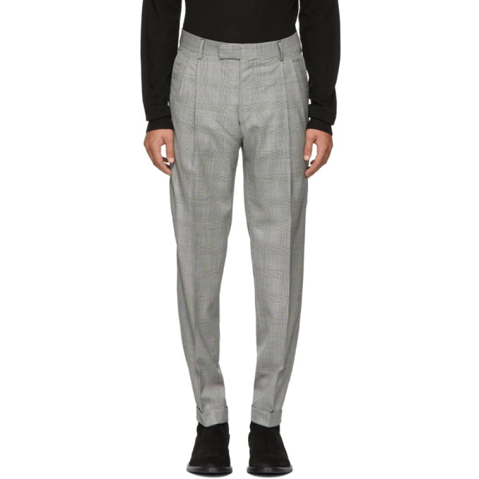 Image of Tiger of Sweden Black & White Tivolo Trousers