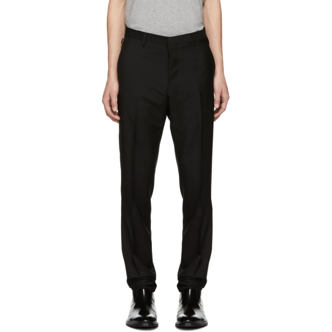 Image of Tiger of Sweden Black Wool Tretton Trousers
