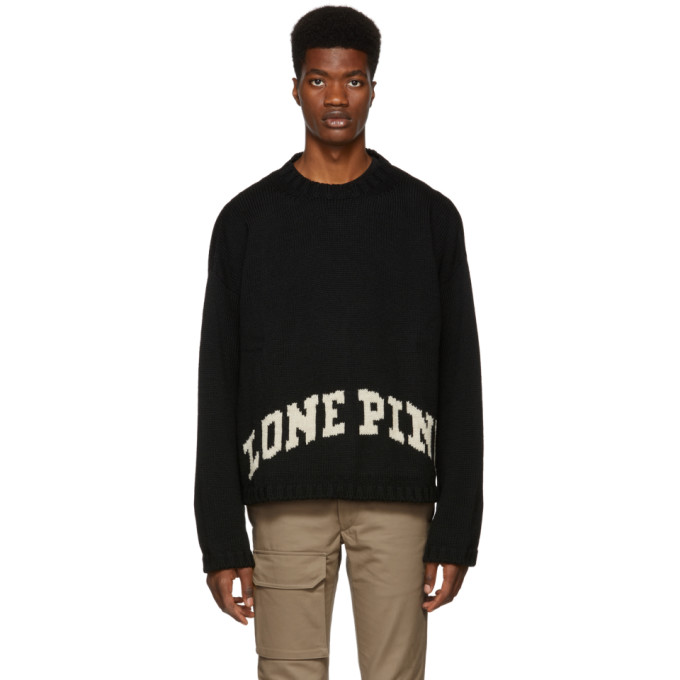 REESE COOPER Reese Cooper Black Lone Pine Sweater