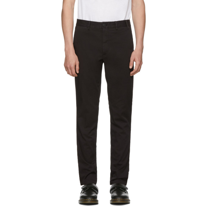 Norse Projects Black Stretch Twill Aros Slim Trousers