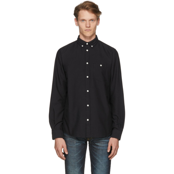 Norse Projects Chemise oxford noire Anton
