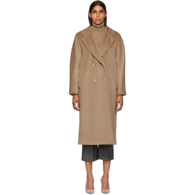 Max Mara Tan Madame Coat, 001 Camel
