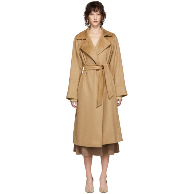 Max Mara Tan Manuela Coat in 001 Camel