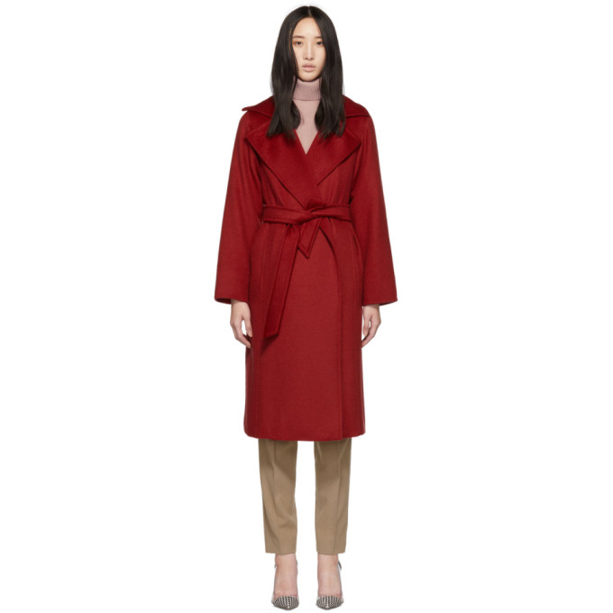 Max Mara Red Manuela Icon Coat in 019 Red