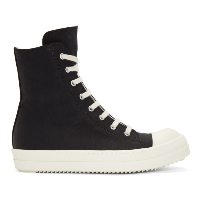 Rick Owens Drkshdw Black & White High-Top Sneakers