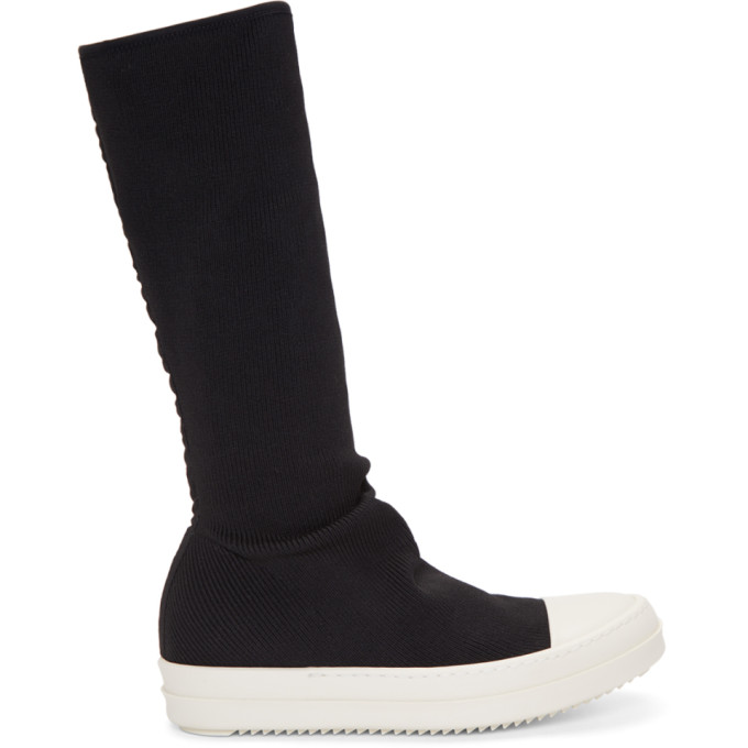 Rick Owens Drkshdw Black Sock Sneaker High-Top Boots