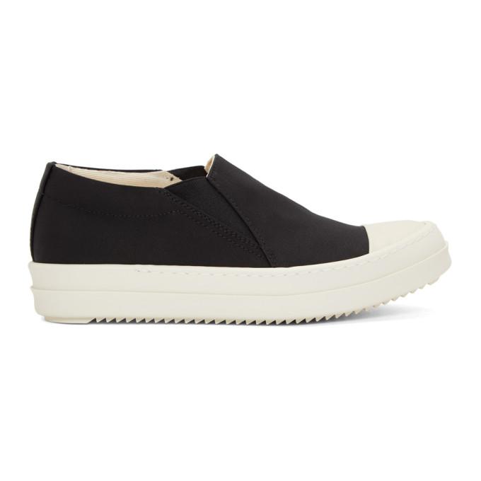 Rick Owens Drkshdw Black & White Boat Sneakers