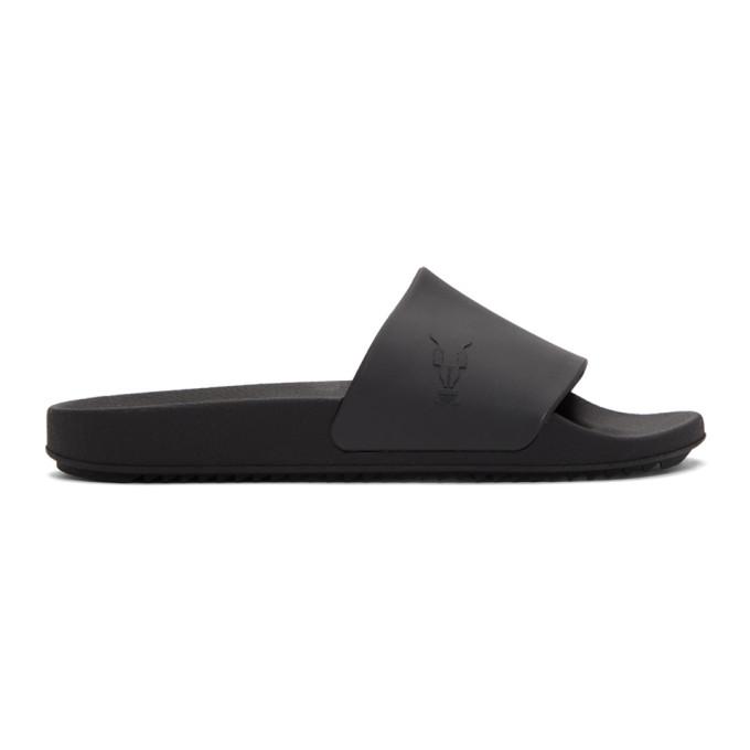 Rick Owens Drkshdw Black Rubber Slides