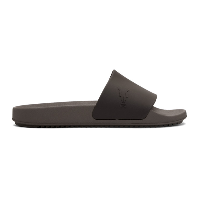 Rick Owens Drkshdw Brown Rubber Slides