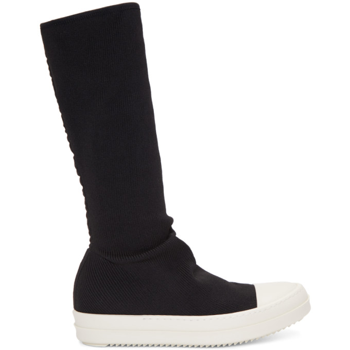 Rick Owens Drkshdw Black Sock High-Top Sneakers