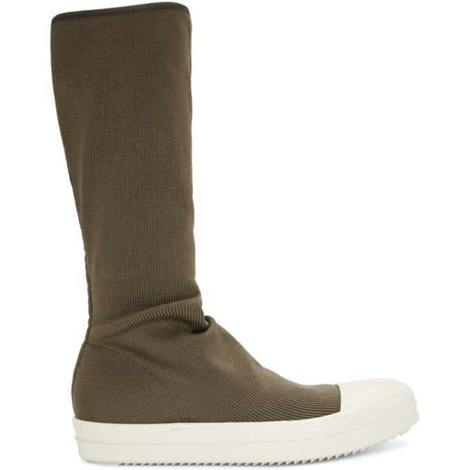 Rick Owens Drkshdw Grey Sock High-top Sneakers
